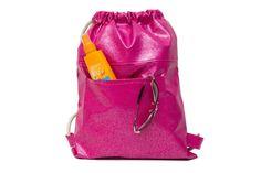 Pink Drawstring bag Gym Bags Backpacks Women by SneakyTeaky