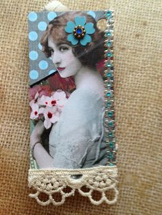 Binder Trading Card - Lady (back) | by Donetta's Beaded Treasures