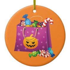 Halloween trick or treat candy ceramic ornament - home gifts ideas decor special unique custom individual customized individualized