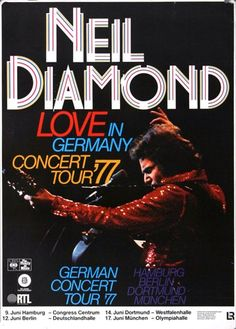 Neil Diamond - Beautiful Noise 1977 - Poster Plakat Konzertposter