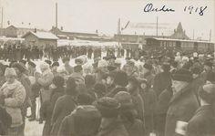 1918: Oulun I vapaaehtoinen rintamakomennuskunta lähdössä rintamalle (Oulu, Museovirasto) Dolores Park, Concert, Travel, Historia, Viajes, Concerts, Destinations, Traveling, Trips