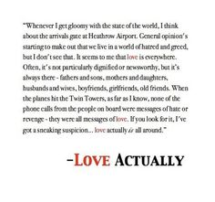 love actually quote This is my favorite quote ever. So sweet...