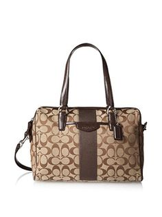 Coach Signature Stripe Nancy Satchel Handbag 28505 Khaki Brown Mahogany Coach http://www.amazon.com/dp/B00JFGBQ76/ref=cm_sw_r_pi_dp_xqwtub0XJM7F8
