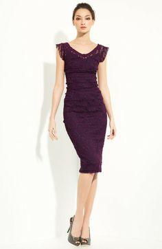 Dolce & Gabbana Purple Lace Dress