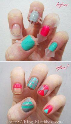 Tricks for nail art! Pretty!