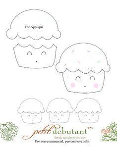 Petit Design Co: Kawaii Cupcake pattern