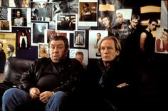 Gregor Fisher (Joe) and Billy Mack (Bill Nighy) ~ Love Actually (2003) ~ Movie Stills ~ #romcoms #britishmovies #chickflicks #loveactually #comedies #romanticcomedies