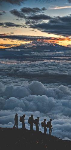 Sunrise on Kilimanjaro.