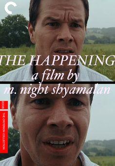 The Happening (2008, M Night Shyamalan).   Fake Criterion Blu Ray cover