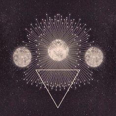 Arte da ilustração inspiração hippie boho Lua mágica bohemian cigano símbolo wicca ocultista sagrado geometria estilo boho gypset boêmio wiccian vivo