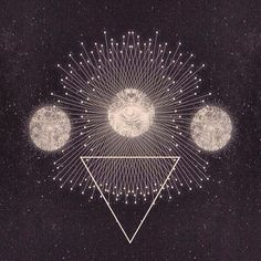 Illustration art hippie inspiration boho moon Magic bohemian symbol gypsy occult wicca sacred geometry boho style gypset bohemian living wic...