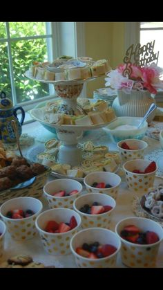 Tea for two! Tea party birthday Food: tortilla roll ups and fruit. Second Birthday Ideas, Girl 2nd Birthday, Golden Birthday, Tea Party Birthday, 4th Birthday Parties, Girls Tea Party, Princess Tea Party, Thinking Day, Party Ideas