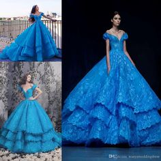 Michael Cinco Ice Blue Princess Evening Dresses Off The Shoulder Tiered Backless Court Train Plus Size Formal Quinceanera Party Prom Gowns Black Maxi Evening Dress Bolero Jackets For Evening Dresses From Wanyuweddingdress, $211.06| Dhgate.Com