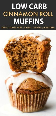 Low Carb Cinnamon Roll Muffins (Keto, Paleo, Vegan)