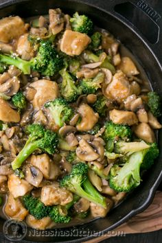 Easy Chicken Broccoli and Mushroom Stir Fry-2