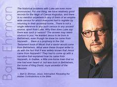 Bart Ehrman, New Testament Scholar, the prophesy of the hometown of King David