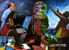 Prison des obligations by Chéri Cherin - Pigozzi Collection 2020 Social Art, Political Art, Republic Of The Congo, African Art, Prison, Street Art, Artwork, Painting, Fictional Characters