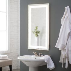 Oh BOY, this is EXACTLY WHAT I NEED BUT 400 dollars for a mirror?  Afina Illume LED Backlit Rectangular Bathroom Mirror | from hayneedle.com