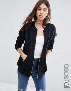 ASOS+TALL+The+Ultimate+Bomber+Jacket+In+Jersey