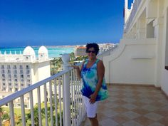 Taking in the gorgeous view from the balcony of the RIU Palace Bar Mitzvah, Amazing Destinations, Balcony, Palace, How To Memorize Things, Vacation, Vacations, Bat Mitzvah, Balconies