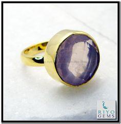 Rose Quartz Gem Stone 18k Gold Platings Eternity Ring Sz 9 Gprroq9-6837 http://www.riyogems.com