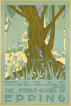The Forest Glades of Epping vintage travel poster reprint | eBay