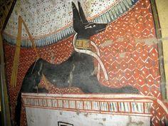 * ANUBIS * Dieu égyptien des morts, Anubis est représenté par un canidé noir, ou comme un homme à tête de chien. Egyptian Beauty, Egyptian Art, Anubis, Kemet Egypt, Ancient Egypt Art, Traditional Paintings, Ancient Civilizations, Belle Photo, Archaeology
