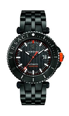 Great gift idea Versace Men's 'V-Race' Automatic Stainless Steel Casual Watch, Color:Black (Model: VAL010016)