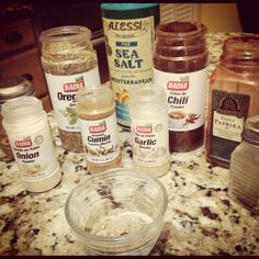 """Stop using pre-packaged """"taco seasoning"""" -- make your own with 1 part each red pepper flakes, oregano, garlic powder, onion powder, 2 parts paprika, 4 parts each black pepper and salt, 6 parts ground cumin, and 12 parts chili powder (start with 1 part = 1/4 tsp if you're just making """"one packet"""")"""