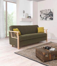 Hochwertiges Sofa aus dem Hause VENDA: Verleihen Sie Ihrem Wohnzimmer einen rustikalen Charakter mit diesem schönen Polstermöbel (B: ca. 220 cm) in sehr kräftigem Grün. Dank der Federkernpolsterung ist das Sofa besonders bequem und lädt zu gemütlichen Stunden ein. Lesen Sie darauf ein spannendes Buch oder relaxen Sie nach Herzenslust während Ihrer Lieblings-TV-Serie. Dieses Sofa wird Sie begeistern!