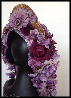 MADE TO ORDER Lavender & Amethyst Flower by MissGDesignsShop