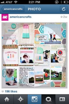 Love the small photo on the patt paper and the overlapping photos on bottom // Project Life inspiration