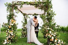 Wedding Ceremony, Wolffer Estate Vineyard, Flowers by: Lewis Miller Design, Wedding Planner: Cloud Nove Events - New York Wedding  http://caratsandcake.com/josephineandpeter