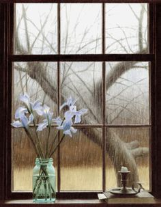 this is so pretty- i want a house with this feel to it- not the rainy day, but the coziness of being inside on a rainy day :)