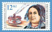 Die Tschechische Republik gab 2010 eine Sondermarke zu Ehren des 125. Geburtstags der Schriftstellerin Magdalena Dobromila Rettigová heraus