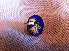 Vikings Football Fan Ring Minnesota Vikings by ButtonsAFluttur, $6.50