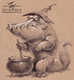 Kevin Keele Be Awesome: Sketchbook June Animal Sketches, Animal Drawings, Drawing Sketches, Art Drawings, Character Drawing, Character Design, Desenhos Halloween, Art Du Croquis, Desenho Tattoo