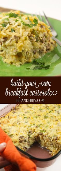 Build-Your-Own Breakfast Casserole - this is the PERFECT template to create your ideal breakfast casserole!