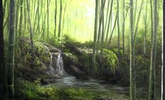 Have you ever seen photos of bamboo forests and wondered how to paint them? Watch Kevin as he shows you how to create this stunning bamboo forest with a subtle waterfall and dramatic light. For more information about oil paint, go to www.paintwithkevin.com