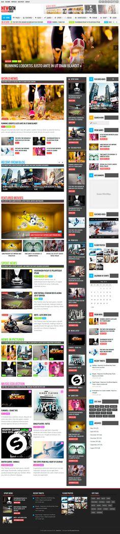 Newgen - Responsive News/Magazine WordPress Theme #HTML5themes #responsivethemes #wordpressthemes