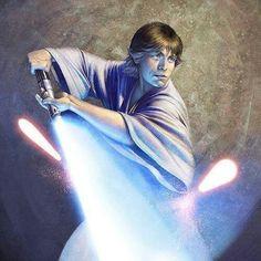 Luke Skywalker as a Jedi apprentice.