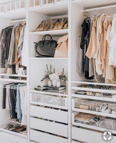 small closet ideas, Closet Designs, wardrobe design, walk-in closet ideas, dressing room ideas Closet Walk-in, Closet Door Storage, Closet Doors, Closet Drawers, Ikea Pax Closet, Ikea Drawers, Wardrobe Storage, Closet Shelves, Closet Hacks