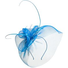 Mascara Blue Plus Size Feather fascinator ($55) ❤ liked on Polyvore featuring accessories, hair accessories, blue, plus size, hair fascinators, fascinator headband hat, blue fascinator hat, head wrap headband and fascinator hats