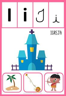 Pedagogiccos Alfabeto Ilustrado Com Imagens Atividade