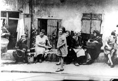 Warsaw, Poland, Women and children in the ghetto.