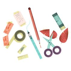 Stationery, by Lotta Nieminen Modern Graphic Design, Graphic Design Inspiration, Lotta Nieminen, Illustrators, Sewing Crafts, Design Art, Illustration Art, Doodles, Stationery