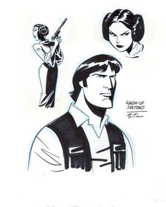 Star Wars Warm-Up #4 by Bruce Timm Comic Art