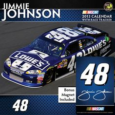 Jimmie Johnson Deluxe Wall Calendar: This officially licensed wall calendar features five-time NASCAR Sprint Cup Champion Jimmie Johnson and his car. Race through the year with the best NASCAR driver of his generation. Nascar Race Cars, Nascar Sprint Cup, Rick Hendrick, Jimmy Johnson, Fails, Golf Tips, Sports, Jeff Gordon, Golf Clubs