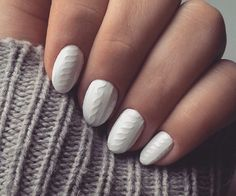 The latest fall and winter nail art trend mimics the cable knit texture of your coziest sweater.
