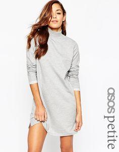 ASOS PETITE Sweat High Neck Dress